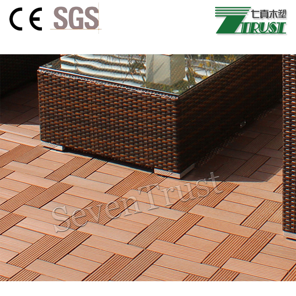 CE outdoor WPC sidewalk composite decking / WPC decking Manufacturer