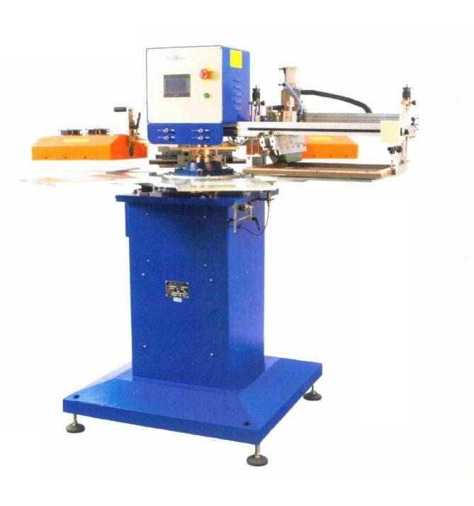 SR-300F6-2 Two-color high speed tagless/label screen printer