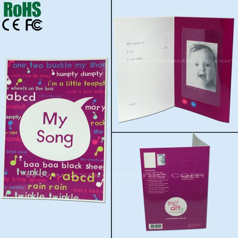 Very Lovely Voice Recording Greeting Card With Photo Frame