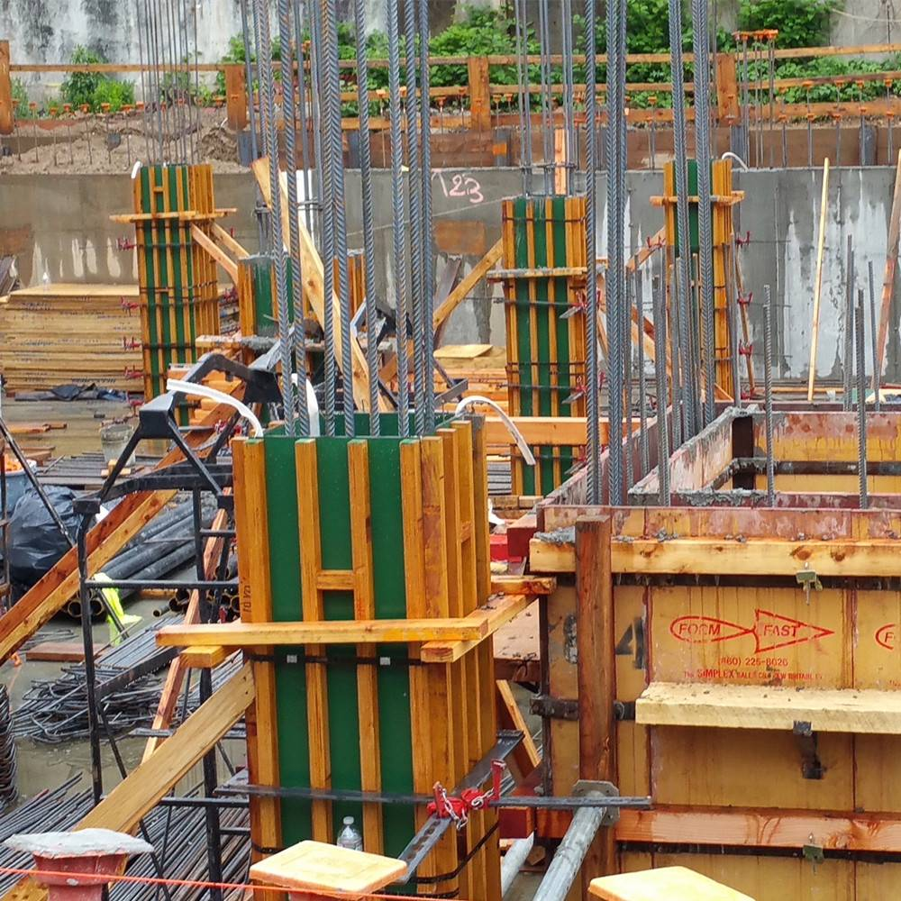 Used 50 times customized size plstic plywood concrete column formwork with adjustable clamp