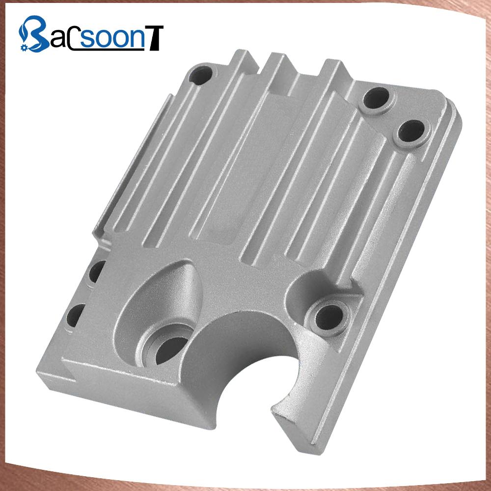 Custom aluminum die casting valve case with drill hole