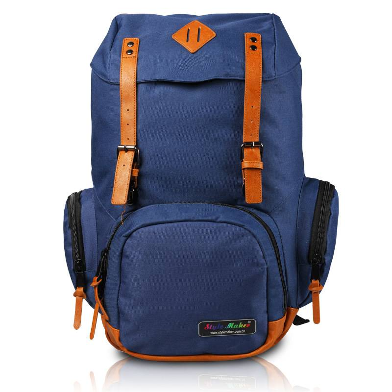 Campling Computer Backpack with PU Patches GF-069