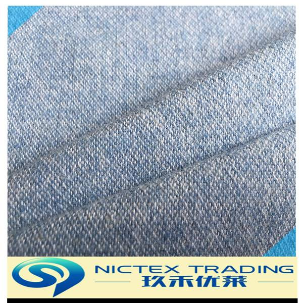 woven 25% polyester 45% cotton 30% wool blended woolen fabric supplier
