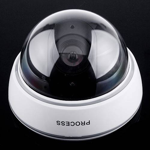 rotating battery operated Waterproof IR CCTV Dummy Dome LED Fake Surveillance dome Security Camera