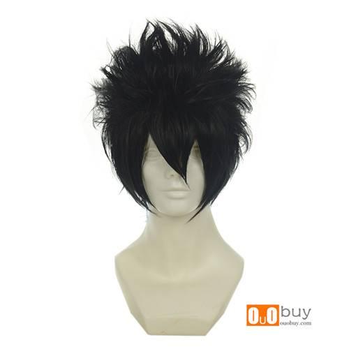Fairy Tail Gray Fullbuster Naruto Sasuke Uchiha Black Versatile Towering Short Cosplay Wig