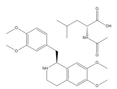 R-Tetrahydropapaverine N-acetyl-L-leucinate