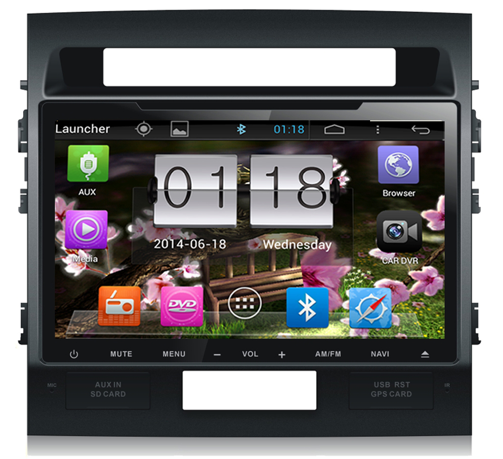 Auto player for Toyota Land Cruiser, 10.2 inch android system /HD/BT/GPS/FM/AM
