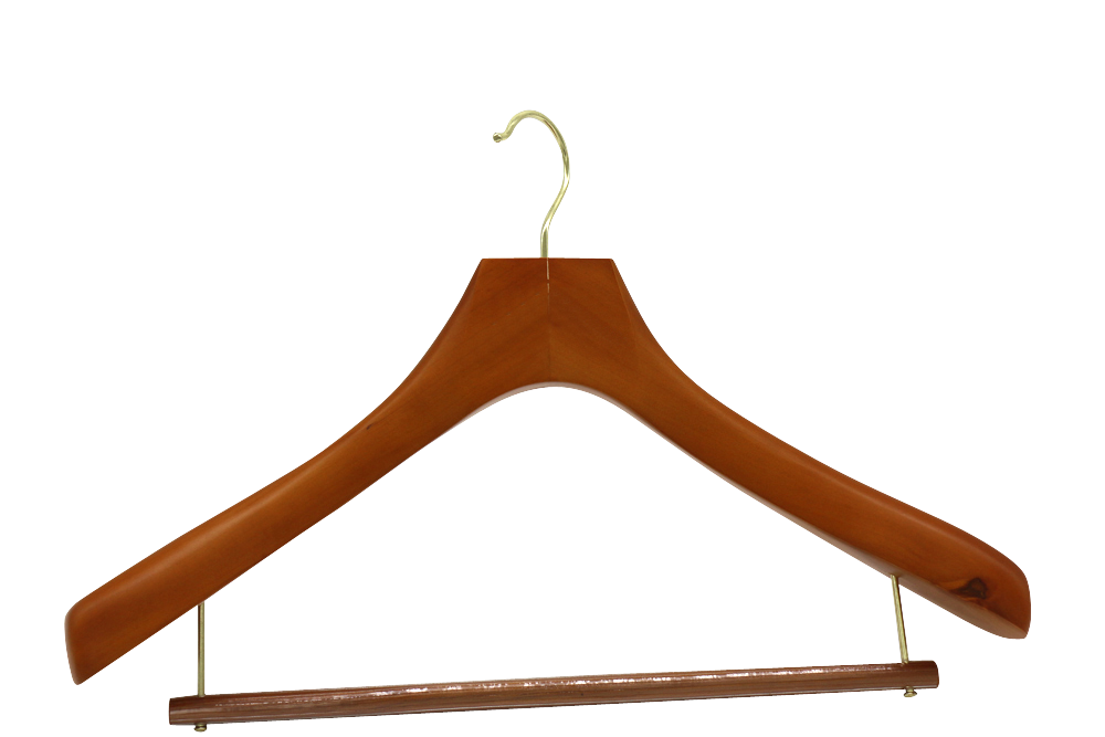 Hight quantity and cheap price wooden clothes hanger for Japan Tokyo supermarket