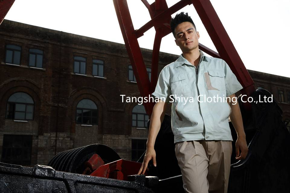 new mens pure cotton washable working garment