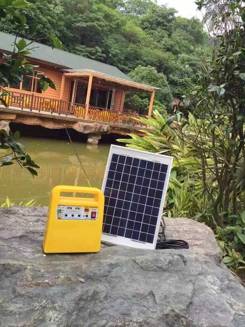 Solar system kits with mp3 player and memory card to play,10w/18v solar panel for home,camping,emerg