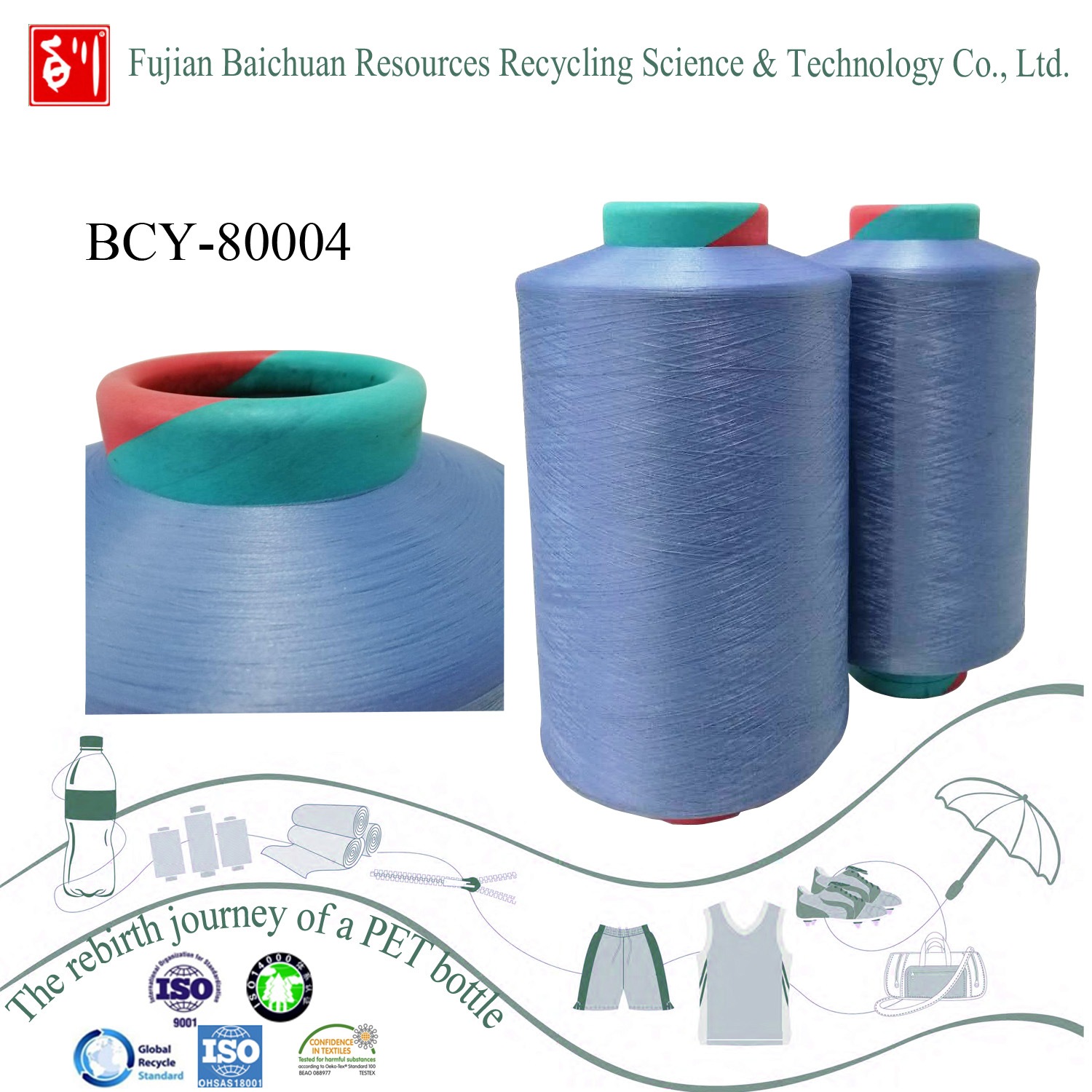 Recycled Polyester Yarn - Fujian Baichuan Resources Recycling