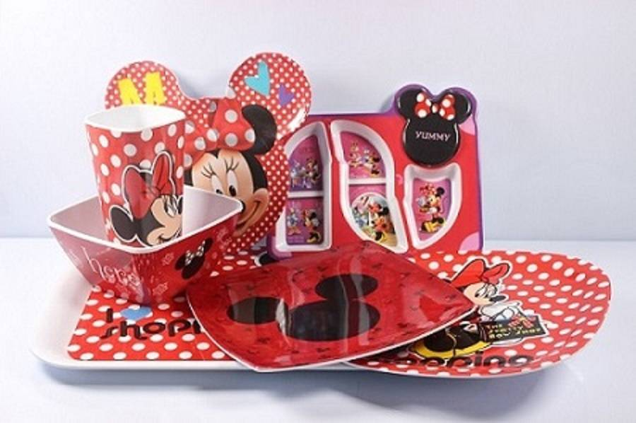 7pcs mixing children melamine dinnerware set