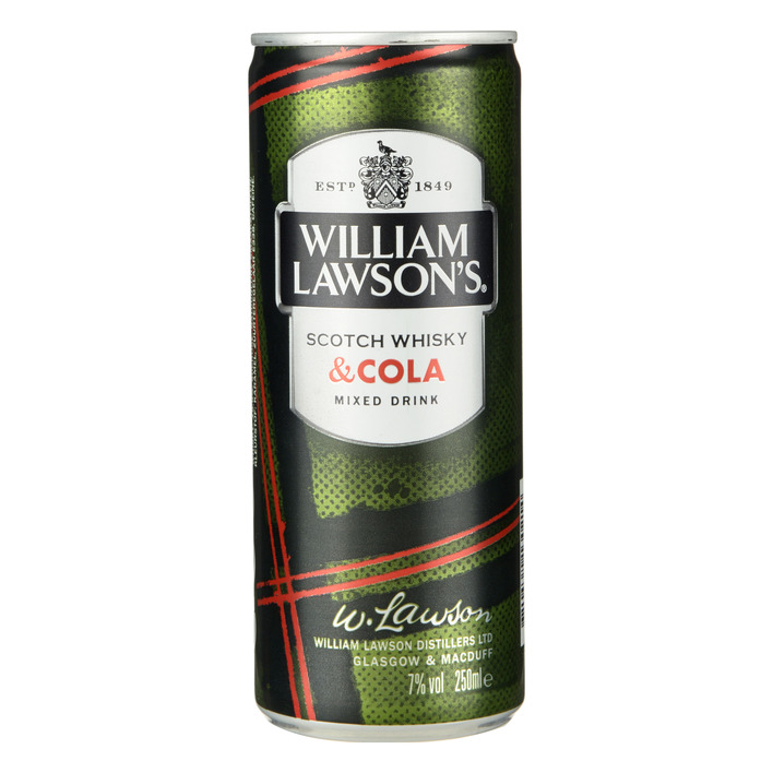 William Lawson Whisky & Cola 250ml Can