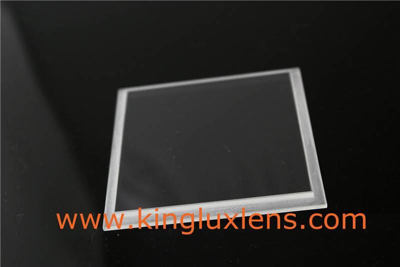 optical flat glass lens for led lighting