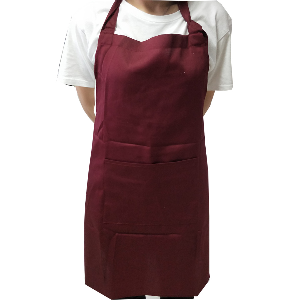 anti water 100% polyester dyed apron