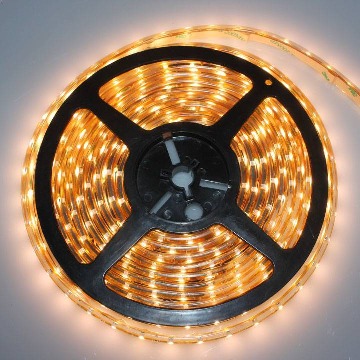 LED Flexible Strip, Made of Flexible Copper Material, 12V DC Voltage, 60 LEDs/m LED, 4.8W/m Power