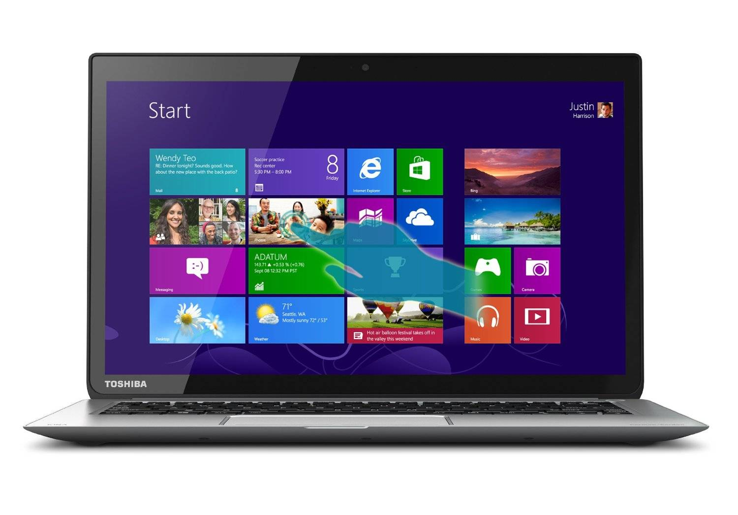 "Toshiba 13""  i7 Touchscreen Laptop"