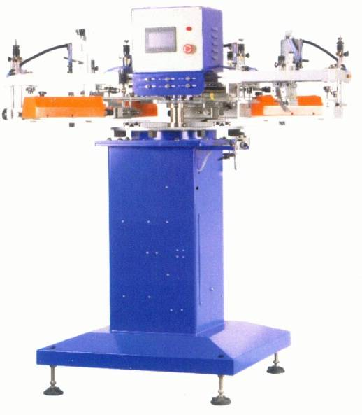 SR-130F8-3 3-color high speed tag-less/ label screen printer