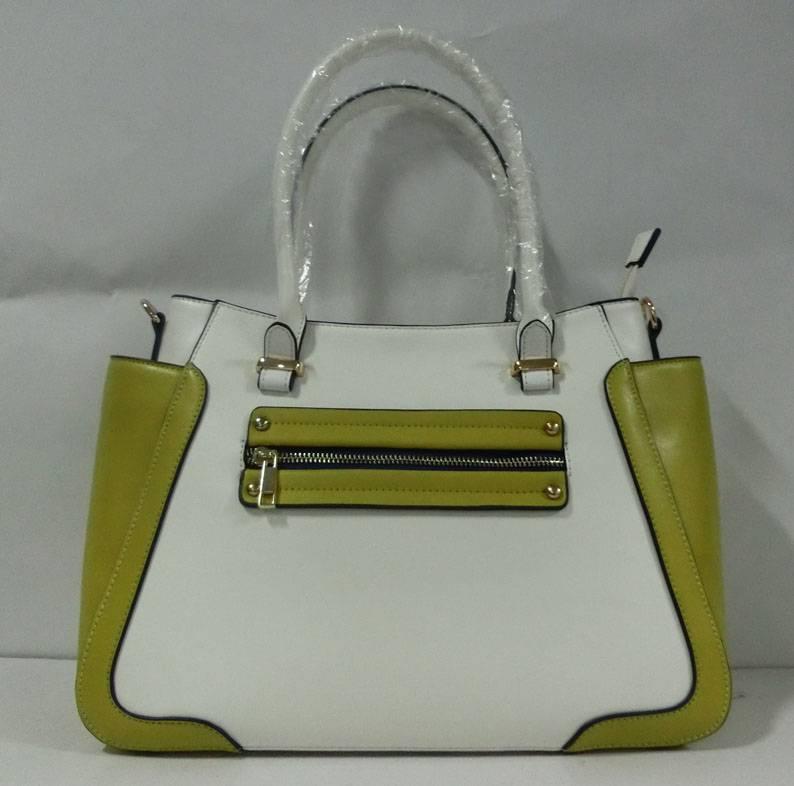 Good quality PU lady handbag smile bag