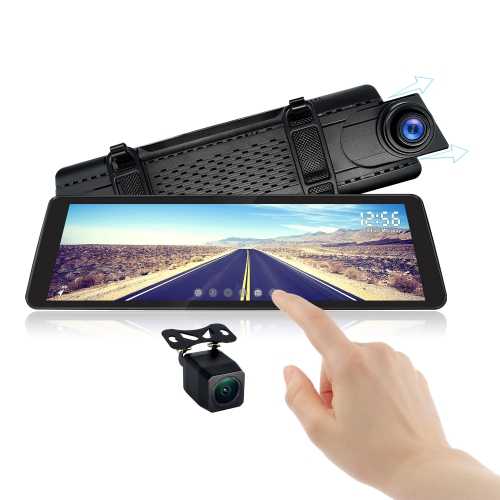 """9.88"""" 1080P DVR Car Rearview Camera with Dash Mirror Touch Screen Monitor"""