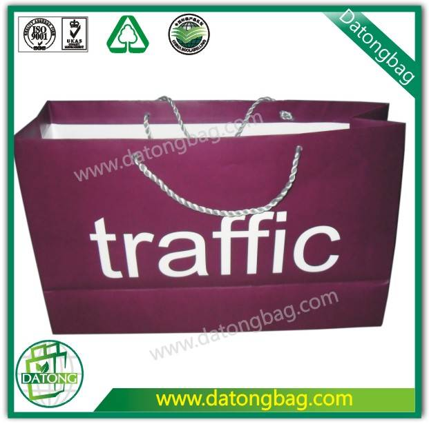 customize paper bag with handle made in China