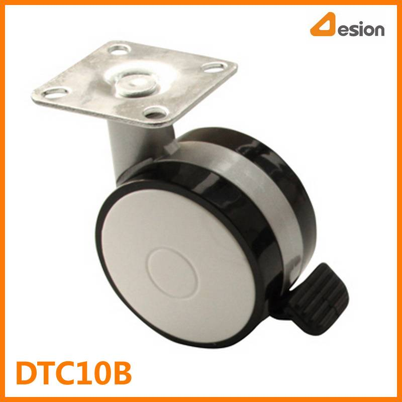 60mm T Plate Nylon Caster with Brake