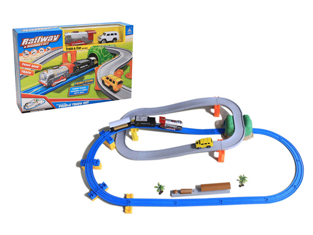 Soba Plastic battery operated train and car toy for kids