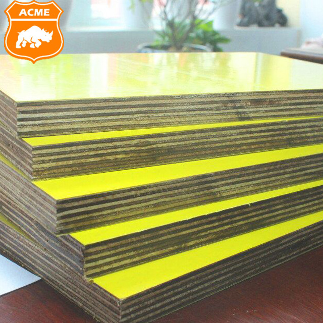 Waterproof Yellow Film Faced Plywood Sheets For Construction