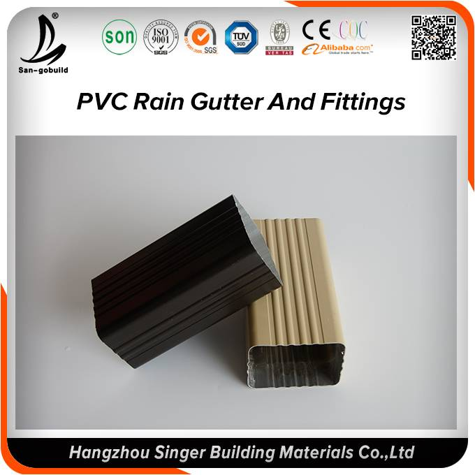 PVC rain gutter and downspout price China supplier