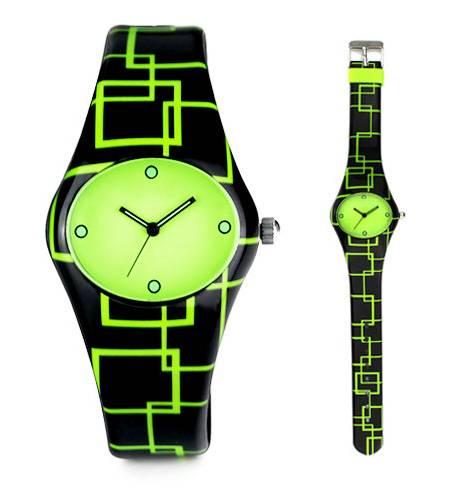 luminous silincone fashion new design wristwatch