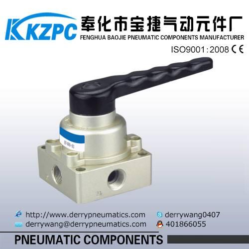 China SMC Hand Switch Control valve Hand Valve Aluminum Hand Valve of HV400-04