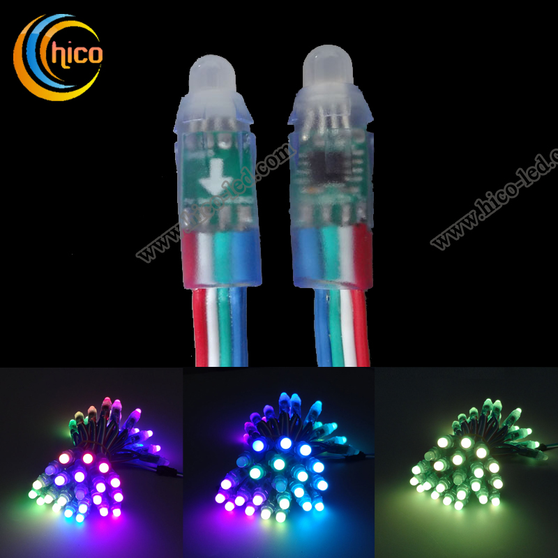 12mm led pixel light Breakpoint continuingly Full Color RGB LED Pixel Light With IC 1908