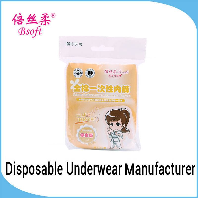 Underwear Factory In China Disposable Sexy School Girl Underwear Young Girl Cotton Panty For Student