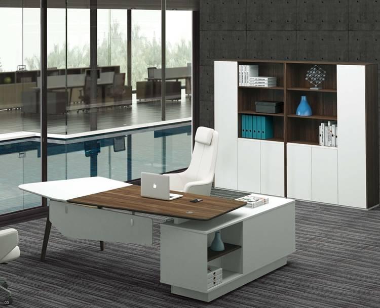 latest design office furniture freestanding office desk with returned desk