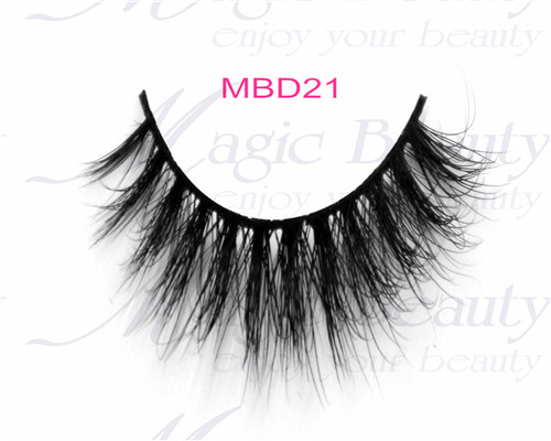 100% Natural Siberian Mink Fur Lashes with 3D Effect MBD21