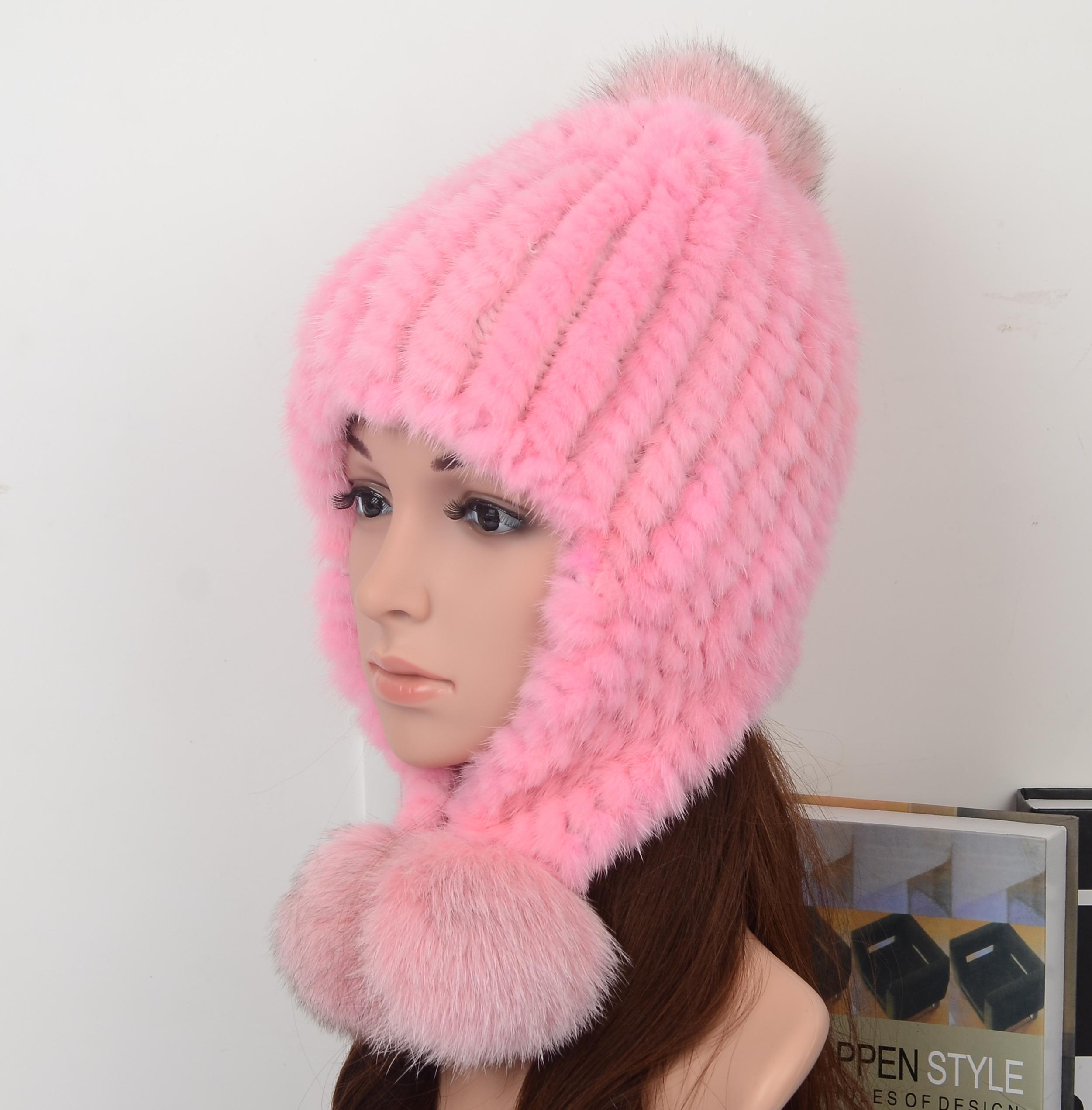 Mink Fur Hat Fashion Style ,Model04