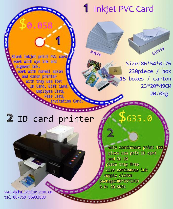 Free Samples Hot Sell Blank Inkjet PVC ID Cards for Wholesale Price