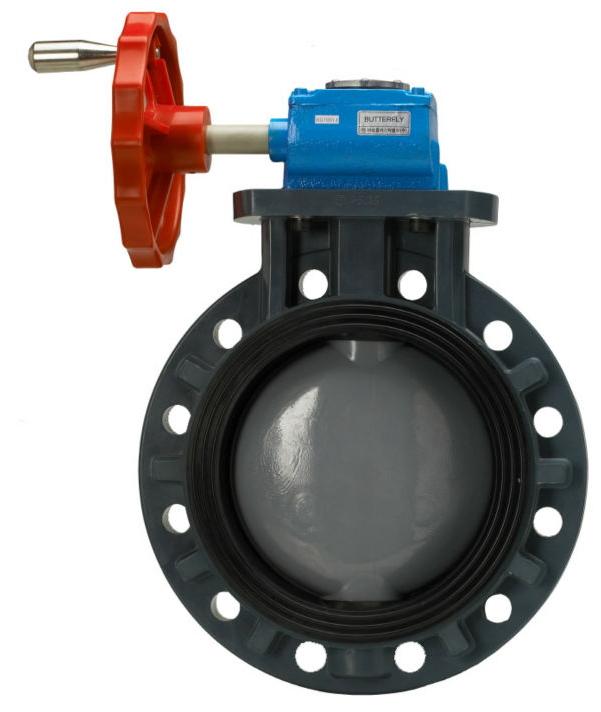 PP+C-PVC BUTTERFLY VALVE(GEAR TYPE)