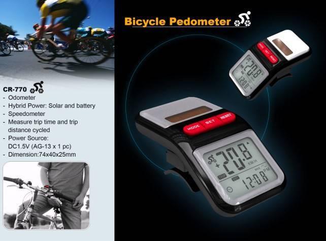 Bicycle pedometer odometer