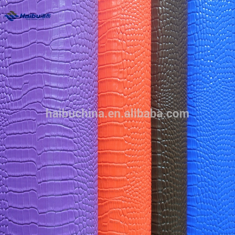Crocodile PVC Faux Leather for Bag