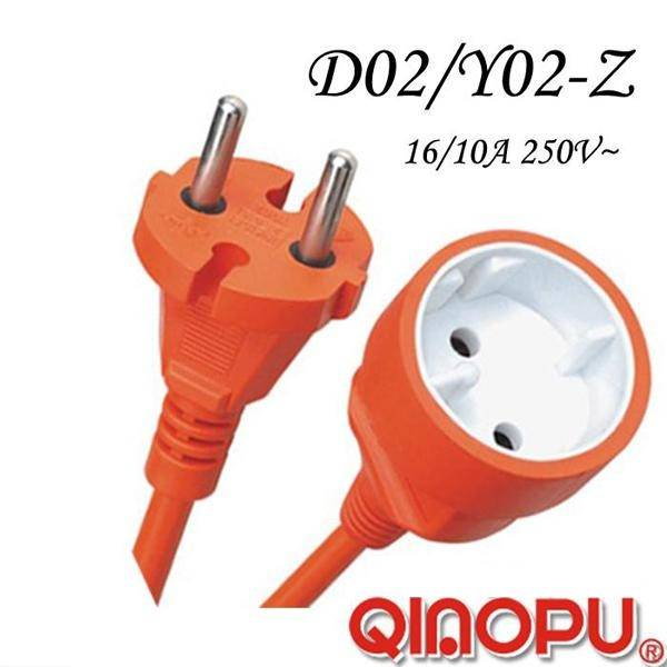European Two Wire Power Extension Cord (D02/Y002-Z)