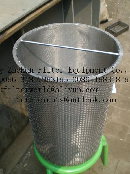 stainless steel basket  filter