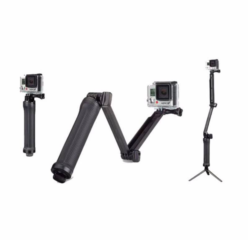 Adjustable 3 way tripod for gopero hero and other camras