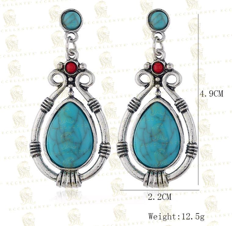 Vintage Water Drop Turquoise Earrings Earrings