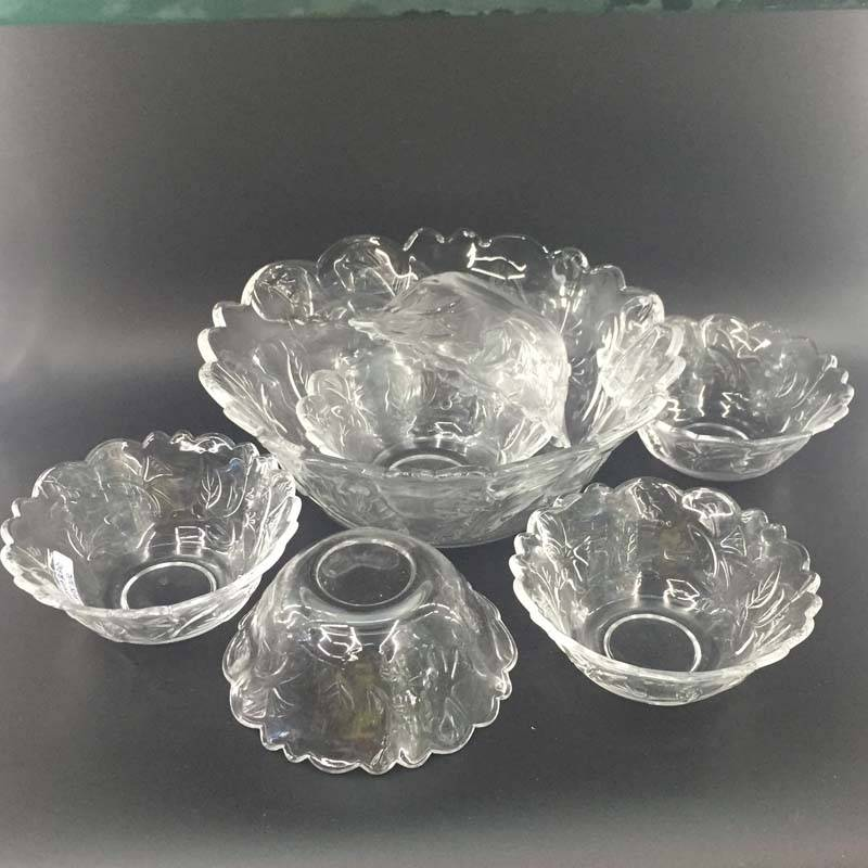 High quality glass sets glass bowl fruit bowl