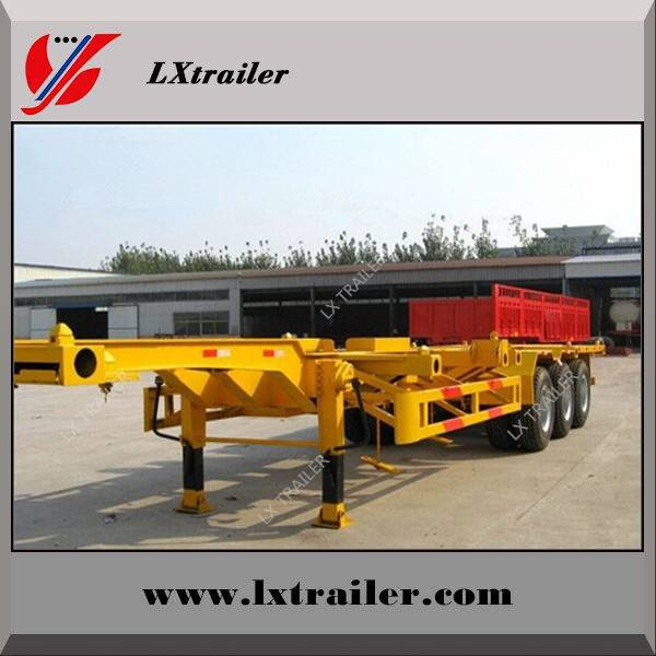 Liangxiang tri-axle skeleton flatbed container semi trailer