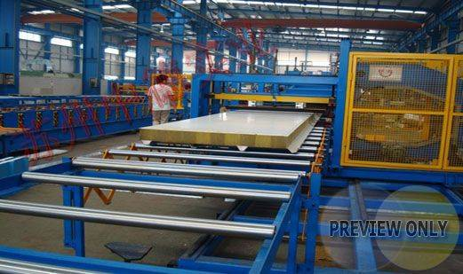 sandwich panel making/forming machine