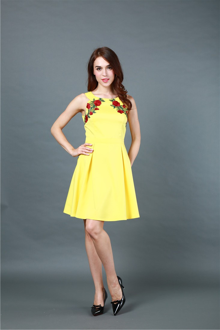 BY651 Glamour mini fashion dress WithEmbroidery
