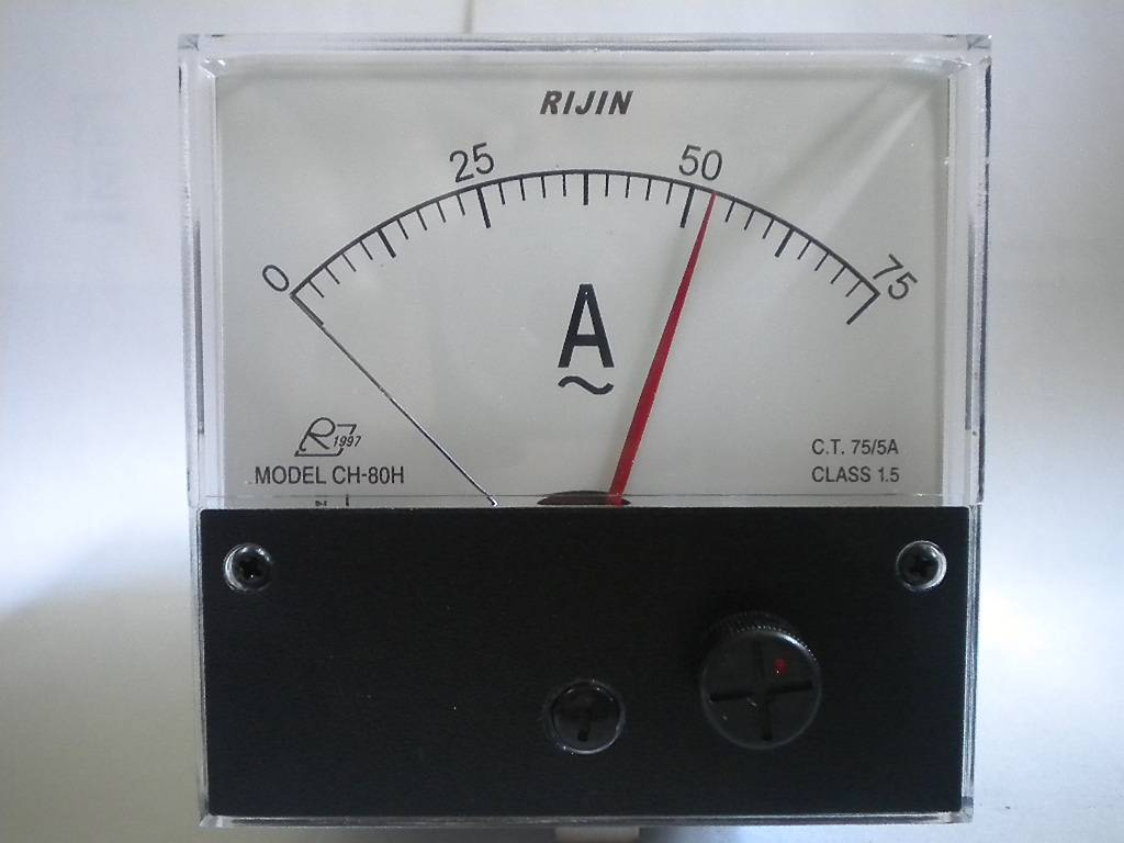 Analog meter relay, CH80, high and low alarm meter