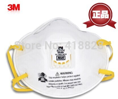 Authentic 3 m8210v against particles with valve PM2.5 antivirus prevent H7N95 PM2.5 smog masks